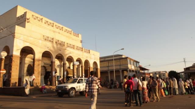 mede ertra bus station, asmara, eritrea on february 21, 2013 in asmara, eritrea. - アフリカの角点の映像素材/bロール