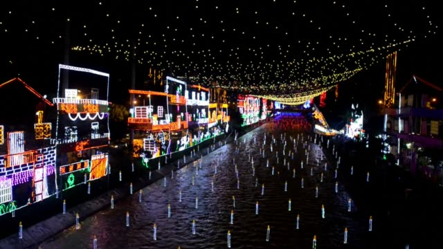 medellin is transformed christmas time some 27million led lamps 10 tons of metallized paper of different colors 150 tons of iron to assemble the... - christmas paper stock videos and b-roll footage