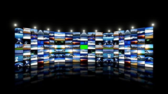 vídeos de stock e filmes b-roll de media e comunicação - parede de vídeo