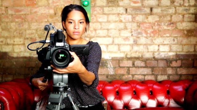 media: attractive female camera operator - producer stock videos & royalty-free footage