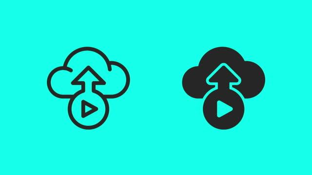 Media Backup Icons - Vector Animate