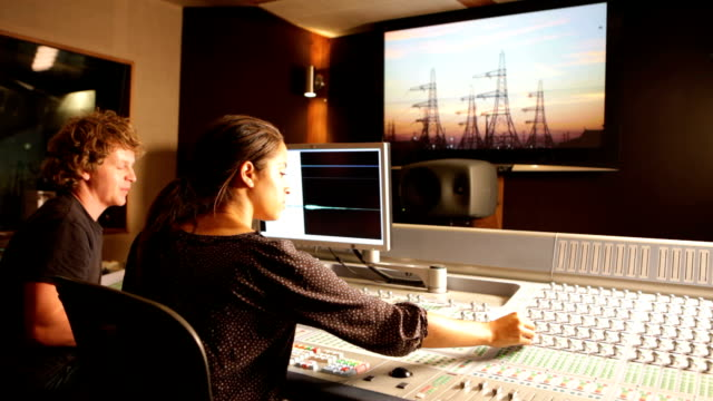 media: behind the mixing desk - film director stock videos & royalty-free footage