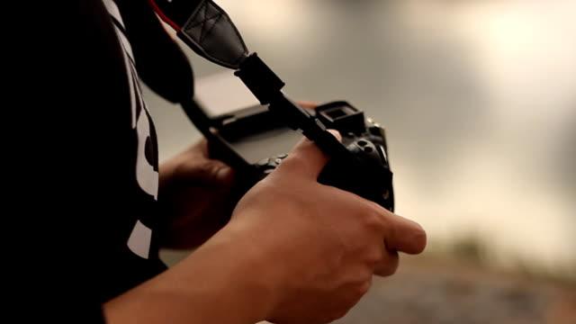 メディア: カメラ設定 - 操作する点の映像素材/bロール