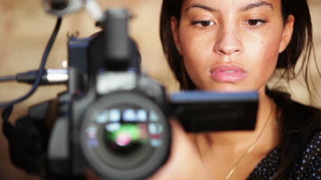 media: camera woman - home video camera stock videos and b-roll footage