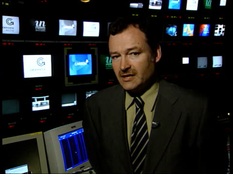 carlton/ united news and media merger approval; int london: i/c nicholas bell interview sot - at the moment the media industry around the world is... - itv late evening bulletin点の映像素材/bロール
