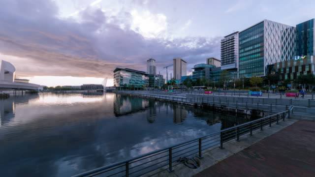 t/l media city in salford quays, manchester, uk - salford quays stock videos & royalty-free footage