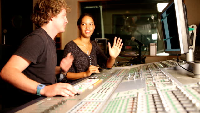 media: mixing desk duo - presenter stock videos and b-roll footage