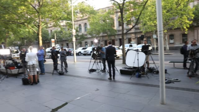 media wait for george pell to arrive at melbourne county court for a presentence hearing on february 27 2019 in melbourne australia pell once the... - abuse stock videos & royalty-free footage