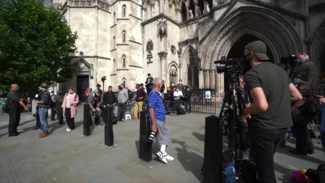 media wait outside for the arrival at royal courts of justice strand on july 7 2020 in london englandhollywood actor is taking news group newspapers... - amber heard stock videos & royalty-free footage