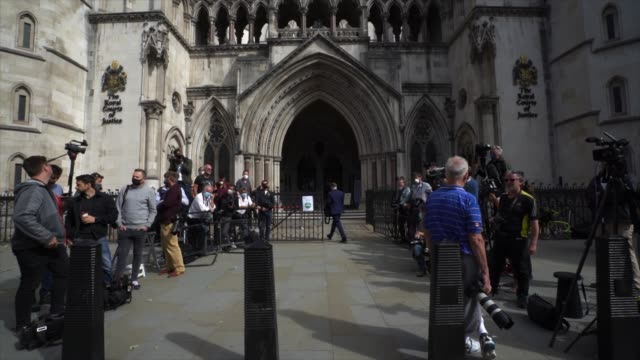 media waits at royal courts of justice strand on july 7 2020 in london englandhollywood actor is taking news group newspapers publishers of the sun... - amber heard stock videos & royalty-free footage
