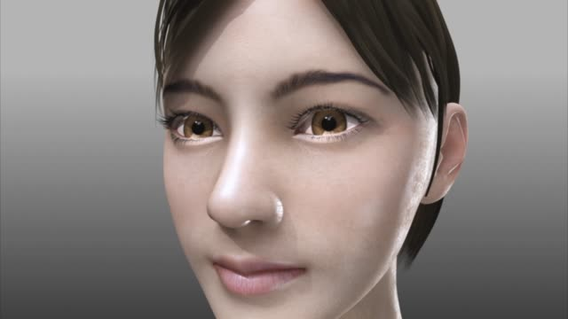 3d medical animation - face - three dimensional stock videos & royalty-free footage