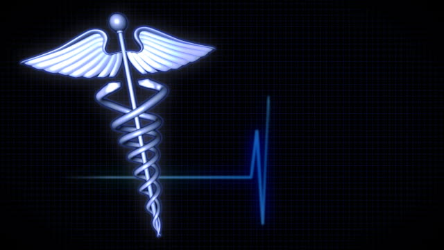 medical background - caduceus left - caduceus stock videos and b-roll footage