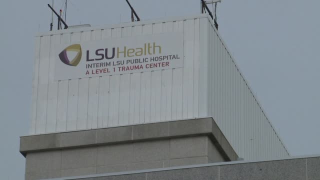 lsu medical center exterior on august 16 2012 in new orleans louisiana - outpatient care stock videos & royalty-free footage