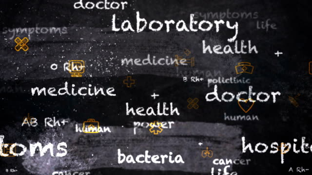4k medical chalkboard (loopable) - human liver stock videos & royalty-free footage