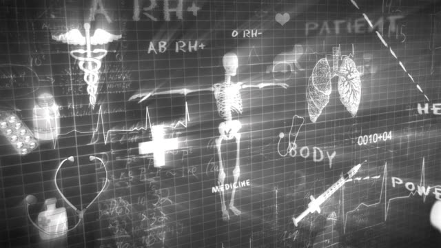 medical chalkboard writing - injecting stock videos and b-roll footage