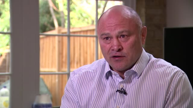 medical experts want to stop tackling in school rugby; twickenham: gvs exterior of twickenham rugby club and statue int brian moore interview sot -... - incomplete stock videos & royalty-free footage