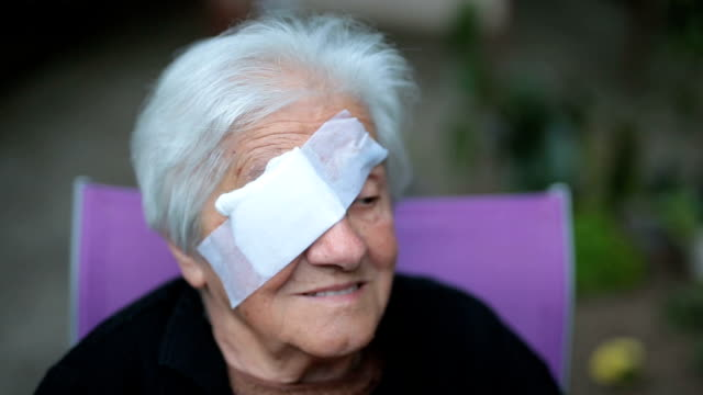 medical eye patch - bandage stock videos & royalty-free footage