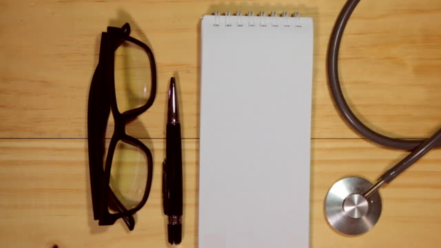 medical forms with stethoscope empty. - prescription medicine stock videos & royalty-free footage