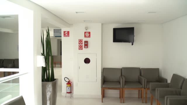 medical healthcare center empty - empty hospital waiting room stock videos & royalty-free footage