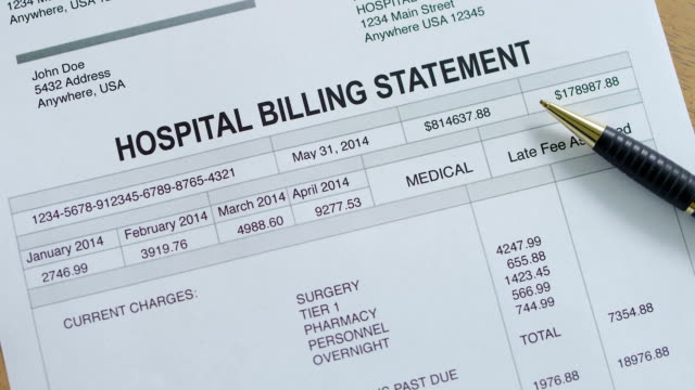 medical hospital past due bill - debt stock videos & royalty-free footage