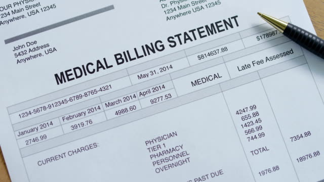 medical hospital past due bill - beak stock videos & royalty-free footage