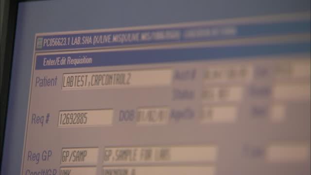 vidéos et rushes de medical information system - écriture européenne