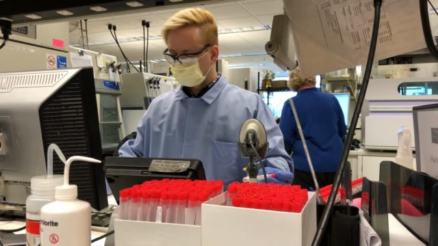 medical laboratory scientist tests for coronavirus at the university of washington medicine virology lab on march 13, 2020 in seattle, washington.... - washington state stock videos & royalty-free footage