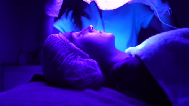 medical led mask - led light stock videos & royalty-free footage