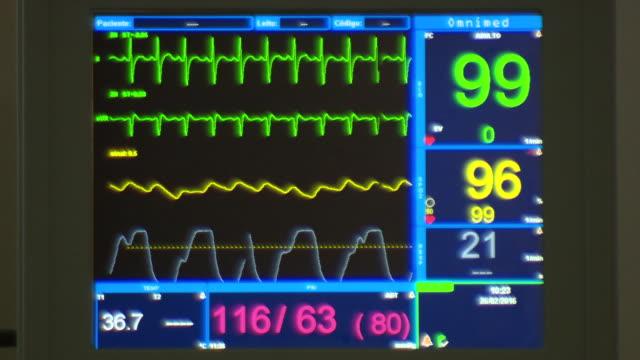 vídeos de stock e filmes b-roll de medical monitor - material médico