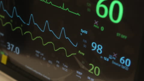 medical monitor - emergencies and disasters stock videos & royalty-free footage