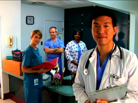 medical personnel portrait - three quarter length stock videos & royalty-free footage