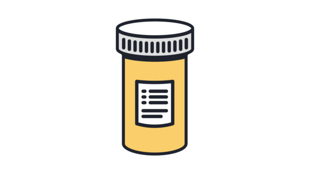 medical prescription flat line icon animation with alpha - rx stock videos & royalty-free footage