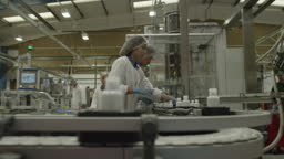 Medical Product Manufacturing Industrial Factory and Workers