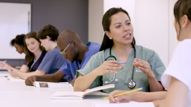 medical professionals in continuing education course - medical student stock videos and b-roll footage