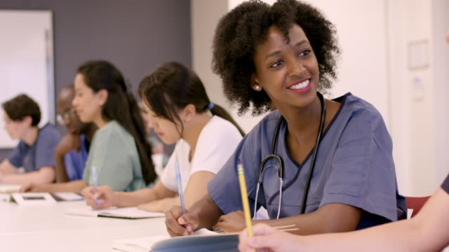 medical professionals in continuing education course - post secondary education stock videos & royalty-free footage