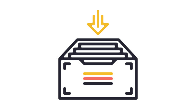 Medical Records Line Icon Animation with Alpha