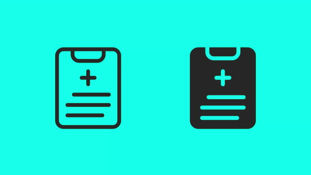 Medical Report Icons - Vector Animate