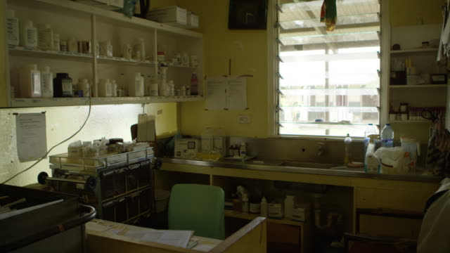 vanuatu - march 30, 2015: medical store room in hospital - pacific islands stock videos & royalty-free footage