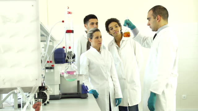 medical students in a laboratory - scrubs stock videos & royalty-free footage