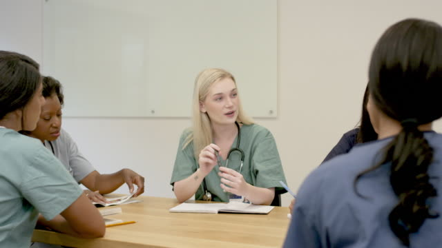 medical team in meeting - nursing student stock videos and b-roll footage