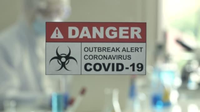 vídeos de stock, filmes e b-roll de técnicos médicos testam amostras para covid-19 em laboratório - examining