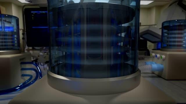 vídeos de stock, filmes e b-roll de ventilador médico - sistema de suporte de vida (vídeo loopable) - imitação