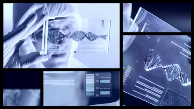medizin. split screen. - haarnetz stock-videos und b-roll-filmmaterial