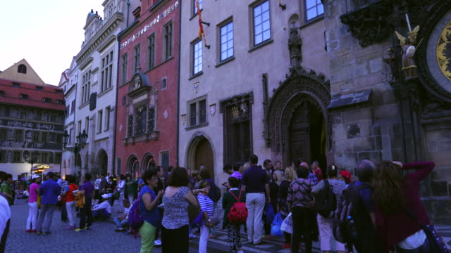 medieval astronomical clock in prague - stare mesto stock videos & royalty-free footage