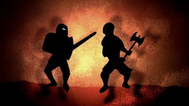 vídeos de stock, filmes e b-roll de batalha medieval - batalha guerra