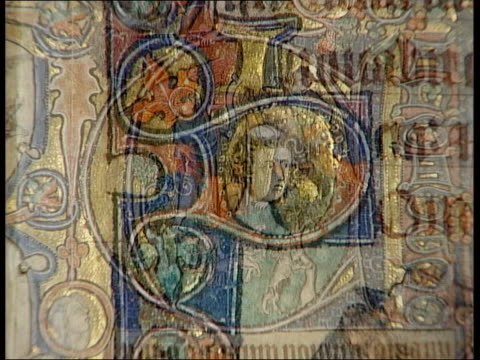 medieval book of psalms to be displayed music overlay gregorian chant cms pages of psalter showing designs and text ends - psalms stock videos and b-roll footage