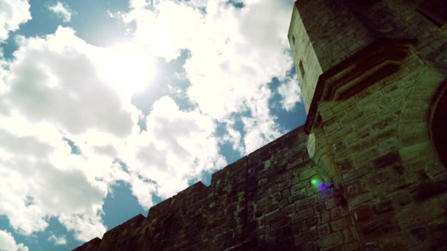 medieval castle walls - castle wall stock videos and b-roll footage