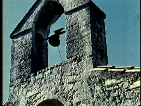 recreation, cu, la, medieval church bell ringing - bell stock videos and b-roll footage