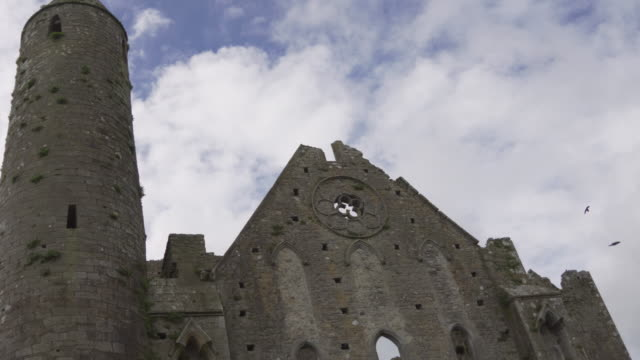 medieval church - hore abbey, ireland - imperfection stock videos & royalty-free footage
