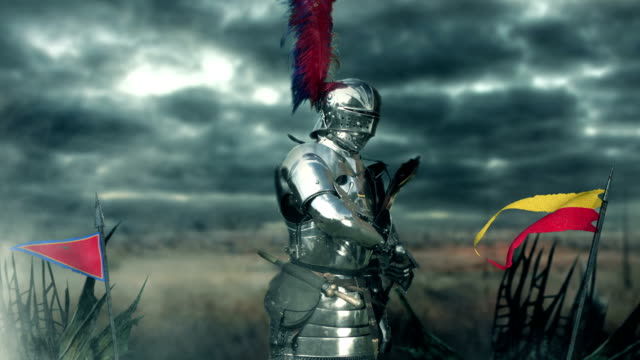medieval knight - traditional armor stock videos and b-roll footage